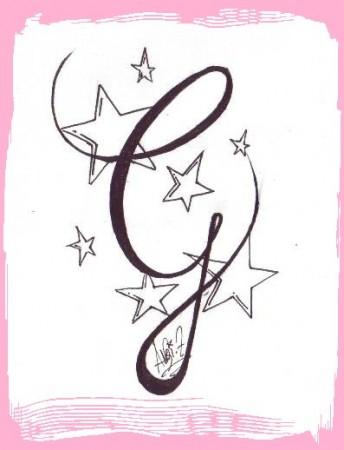 lettera G Stilizzata, in Corsivo - Tutti i Tatuaggi con la lettera G